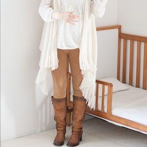 Motherhood Maternity Camel Brown Suede Leggings